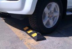 RWS-4 Butée de roues en caoutchouc pour parkings publics, commerciaux et parkings privés, couleur noire-jaune, dimensions 55x15x10 cm Vente