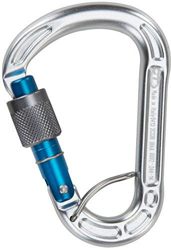 Climbing Technology Concept SGL - Mosquetón de Escalada con Seguro, Color Azul
