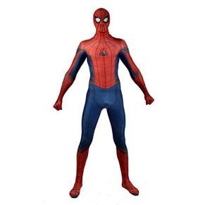 kksun Spider-Man: Traje de Cosplay del Anime de Regreso a casa de Halloween Navidad Lycra Spandex Vestido Ropa,Red- L