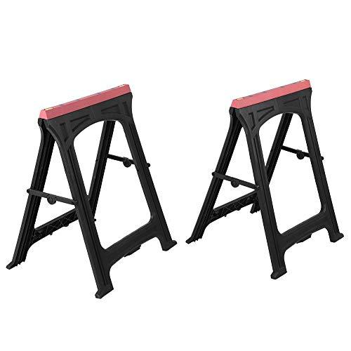 2er Set Faltbares Sägebock Klappbock AllzweckbockArbeitsbock mit Skala für Zuhause und Holzwerkstatt, Kunststoff