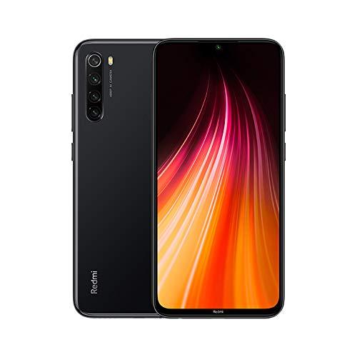"""Xiaomi Redmi Note 8 Teléfono 4GB RAM + 64GB ROM, Pantalla Completa de 6.3"""", Procesador Snapdragon 665 Octa-Core, 13MP Frontal y 48MP AI Cuatro Cámara Trasera Móviles Versión Global (Negro)"""