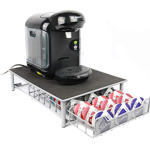 60 T-Disc Pod Tassimo Coffee Holder & Dispenser Stand Drawer Storage M&W Grey