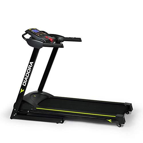 Diadora Fitness, Edge 2.4 Dark Unisex Adulto, Nero, Aperto: 70 x 160 x 125 cm Dimensioni Chiuso:70 x 100 x 135 cm