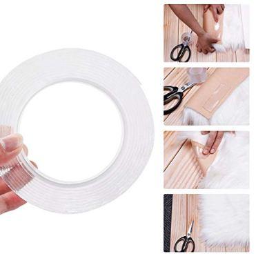 Waschbares-Spurloses-Klebebandtonitott-Doppelseitiges-Klebeband-Transparent-Wiederverwendbares-Klebstoff-Klebeband-fr-Wnde-Kche-Teppichbefestigung-Badezimmer-Fotorahmen-5M