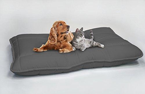 Italian Bed Linen Maxy Cuscinone per Cani Imbottito 60x100cm Grigio Scuro