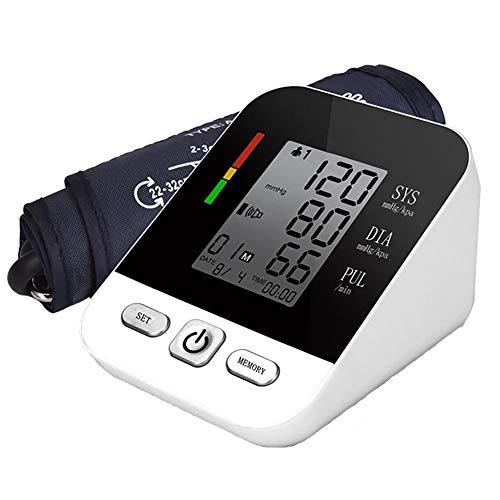 SXFYMWY Elektronisches Blutdruckmessgerät mit großem LCD-Display Intelligente Druckmessgeräte mit hoher Genauigkeit,Black,14x10x6.5cm