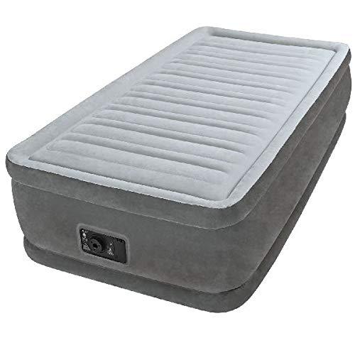 Intex 64412 Materasso Comfort Plush Elevated Dura Beam Tecnologia Fiber Tech Singolo 715, Grigio, 99...