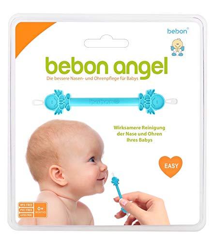 Bebon Angel – der bessere Nasenreiniger und Ohrenreiniger für Babys | Sichtbar wirksamer als Nasensauger/Nasensekretsauger