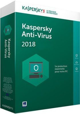 KASPERSKY ANTIVIRUS 2018 | 2 POSTE - 2 Annèe | Digital License | License and weblink sent by Amazon Email the same day | No Package Shipping , NO CD/DVD