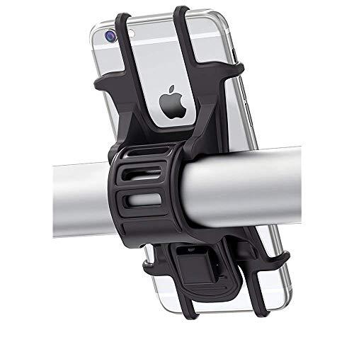 Bovon Porta Cellulare Bici, Supporto Bici Smartphone, Manubrio Universale Bici Moto MTB per Tutti Gli Smartphone e Dispositivi Elettronici 4.5-6.0 pollici