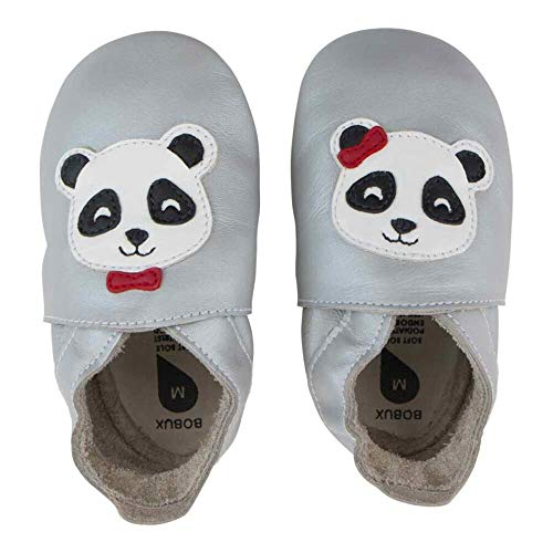 Bobux Panda Silver Leather Large / 15-21 Months