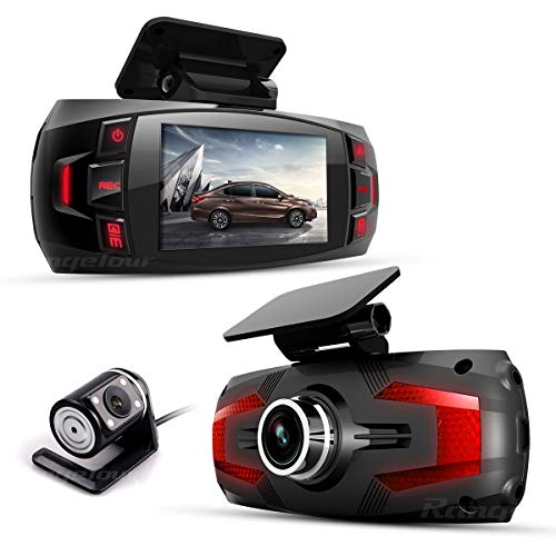 Range Tour Z4 Plus Dual in Auto Dash Cam DVR Digitale Video registratore Guida Anteriore CAM170 ° Wide Ang retrovisore grandangolare 120 °, Loop Recording, G-Sensor, rilevamento del Movimento
