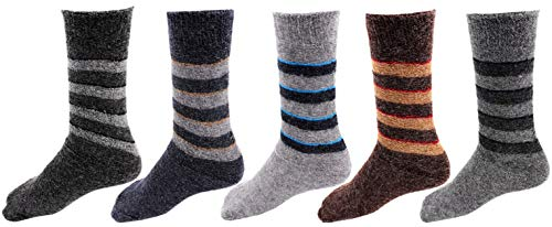RC. ROYAL CLASS Kids Calf Length Towel Thick Woolen Blend Multicolored Socks (Pack of 5 Pairs) (3-4 Years)