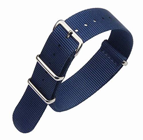 20mm squisito un pezzo bande blu scuro lusso degli uomini di orologi stile NATO nylon Perlon strisce di tessuto