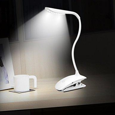 Leselampe-klemmen-Mospro-LED-Klemmleuchte-buch-Dimmbar-Schreibtischlampe-Augenschutz-Flexible-Nachttischlampe-LED-nachladbare-klemmlampe-kinder-mit-Touch-Dimmer-3-Stufe-Helligkeit-wei
