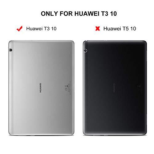 ELTD Huawei MediaPad T3 10 Custodia Cover, Ultra Lightweight Pelle con Funzione di Stand Flip...