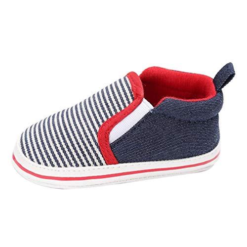 iFRich Scarpine Primi Passi - Tela - Sneaker 0-18 Mesi (età: 6~12 Mesi, Blu)