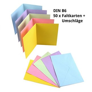 50 Faltkarten DIN B6 blanko