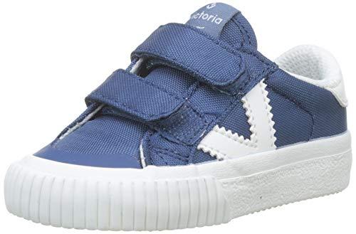 victoria Tribu Velcros Nylon, Sneaker Unisex-Bimbi, Blu (Azul 36), 25 EU
