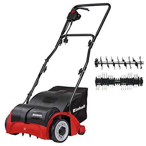 Einhell GC-SA 1231/1 - Escarificadora eléctrica (1200W, 230V, 3 niveles de profundidad, ancho de trabajo: 31cm, capacidad de bolsa: 28L, con rodillo aireador) (ref. 3420620)