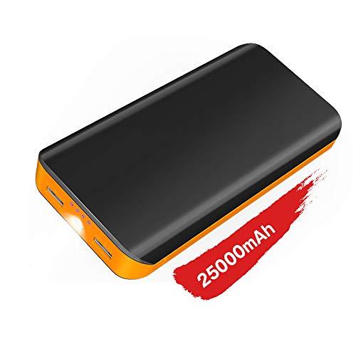 Power Bank Ricarica Rapida,25000 mah Batteria Esterna ad Alta Capacità con Due Porte USB di...