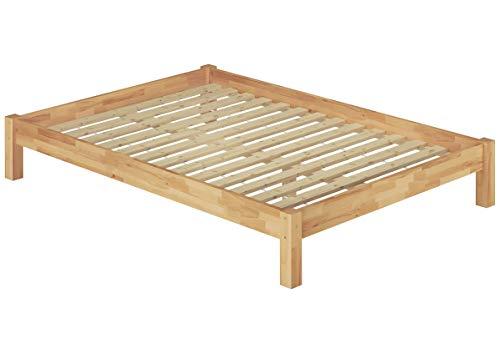 Erst-Holz Solido Matrimoniale futon 180x200 in Faggio massello Eco Laccato con doghe rigide 60.84-18