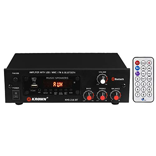 KEKROWN Krown KHS-216 BT 4 Channel Stereo Amplifier 6000W PMPO with USB, FM and Bluetooth