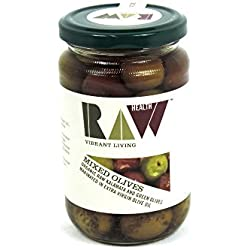 Raw Health - Olives - Mixed Green & Kalamata in Extra Virgin Oil - 330g