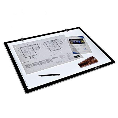 MiniSun - Scatola luminosa LED, LightPad moderno e ultra sottile - Taglia A2