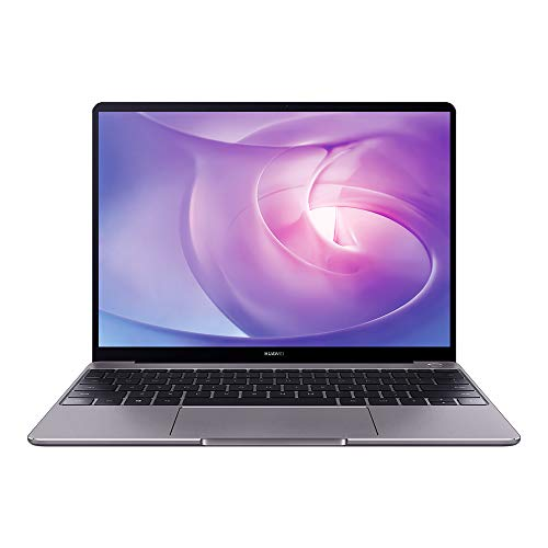 HUAWEI MateBook - PC Portable - 13' écran FullView (Intel Core i7, RAM 8Go, SSD 512Go, Windows 10 Home, Clavier Français AZERTY) - Gris