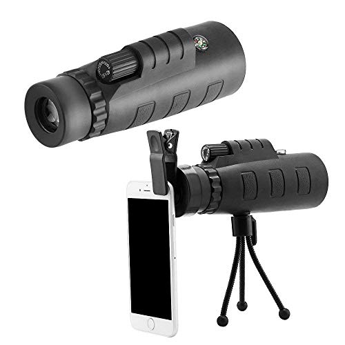 HTech Panda Monocular Telescope Lens 40x60 HD with Mini Tripod and Mobile Camera Clip for All Phones