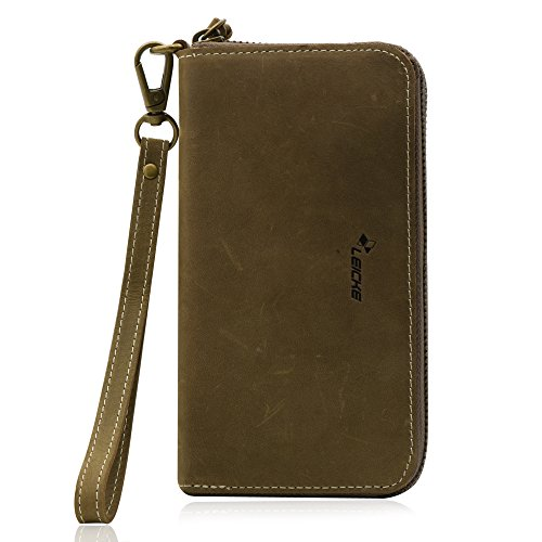 Manna Smart Wallet | Borsello Cover per iPhone 8 Plus e Smartphone con Display da Fino a 6 Pollici |...