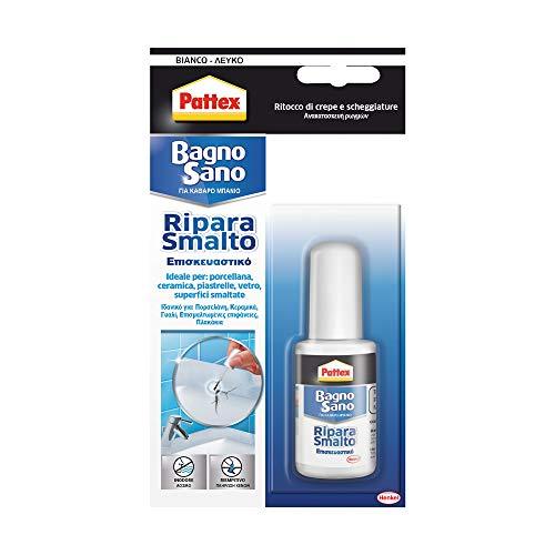 Pattex Bagno Sano Ripara Smalto, smalto acrilico a base acqua per ritocchi di scheggiature e graffi...