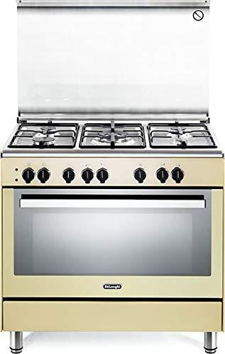 Cucina a Gas con Forno Multifunzione con Grill 90x60 cm Crema