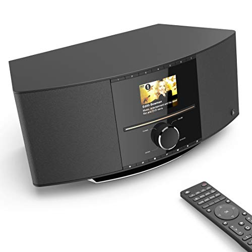Hama Internetradio mit CD-Player & DAB+ (WLAN/Digitalradio/UKW/CD/Bluetooth/USB/AUX, Spotify/mit Amazon Music, Multiroom, 40W, Farbdisplay, Steuerung per Fernbedienung/gratis App, WLAN-Radio)
