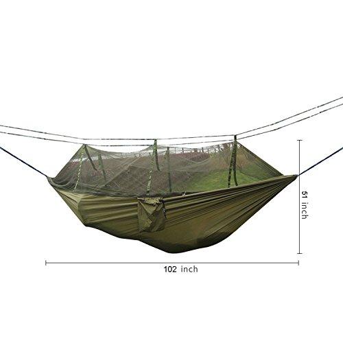 DHIDWWBBH Camping extérieur portatif moustiquaire en Nylon hamac Suspendu lit balançoire Dormir, Orange 24