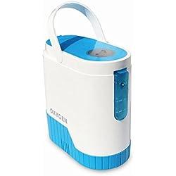 Home Care Wholesale® Máquina de Concentrador de Oxígeno Portátil de Atención Domiciliaria y Filtro Concentrador de Oxígeno con Batería Recargable y Carro Portátil para el Hogar, Coche, Viajes