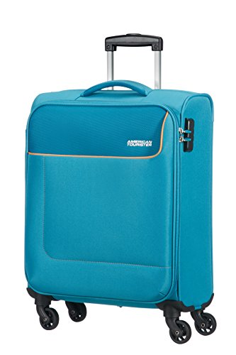 American Tourister - Funshine Spinner Bagaglio a mano, Unisex, Poliestere, Blu (Blue Ocean), 36...