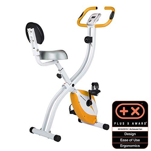 Ultrasport Heimtrainer F-Bike 200B mit Handpuls-Sensoren, mit Rückenlehne, faltbar, orange