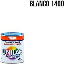 Titan M3527 - Esmalte al agua unilak satinado blanco 750 ml