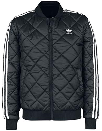 adidas SST Quilted, Giacca Sottile Uomo, Nero, M