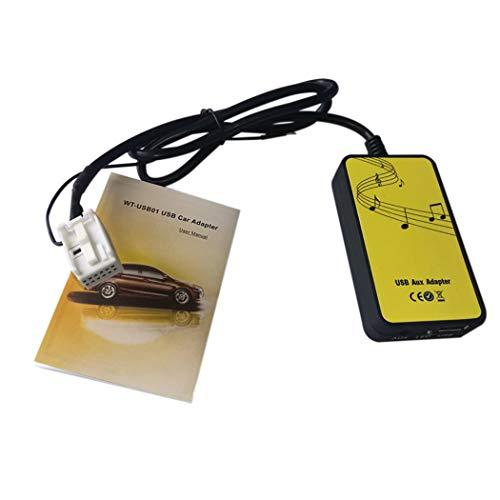 Fansport Car USB Aux Adapter Digital Music Changer Wireless MP3 Player Car Accessories