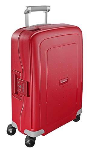 Samsonite S'Cure Valigia Spinner 55 cm, 34 liters, Rosso (Crimson Red)