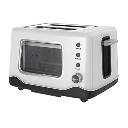 Colazione Cucina Tostapane 2 Fette Extra Wide Slot 7 Modalità di controllo Browning Forno bianco...