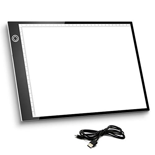 Tavoletta Luminosa, Light Board Tracing Light Box A4 LED Light Pad di Disegno con Cavo USB,Tavolette...