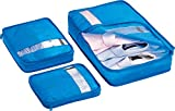 Go Travel Bag Packers Tidy Case Luggage Packing Cubes Set of 3, White