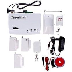 Kabelloser GSM Hochleistungssprühgerät/SMS/Anruf Rücktaste Spare Alarmanlage mit Sicherheit 2 Stücke Türsensor Öffnermelder