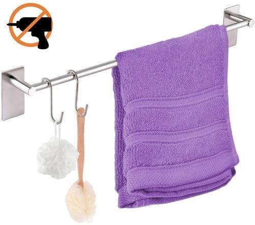 Toalleros de Barra adhesivo Fuerte alta calidad Sin Taladrar 40 CM para paños de cocina o toallas de baño Uonner