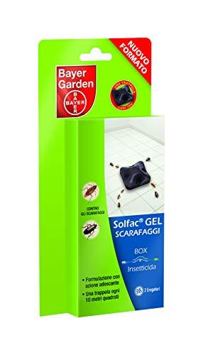 Bayer Garden Solfac Box Gel insetticida per scarafaggi in Confezione Salva freschezza, 2 x 1 gr