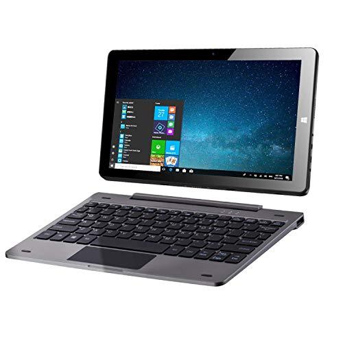 10.1 ' Windows 10 Tablet PC Ordinateur Portable à écran Tactile 2 en 1 avec Clavier Amovible, Intel Quad Core 1.44 GHz/4 Go DDR3 64 Go eMMC/IPS /Double caméra /Bluetooth 4.0 /HDMI /MicroSD /USB